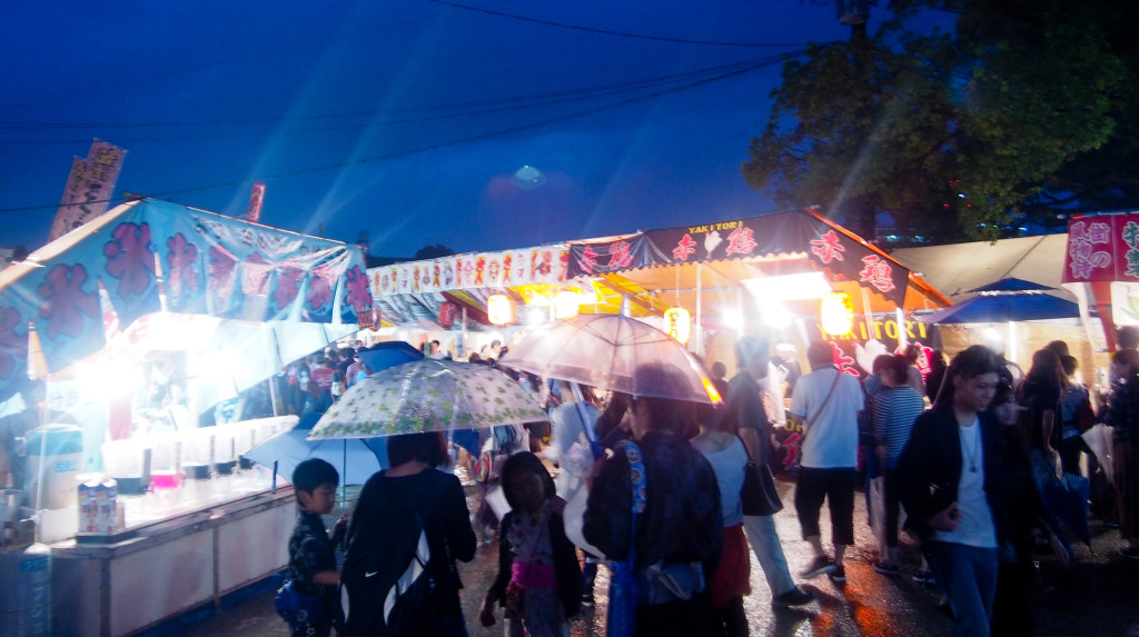 The rainy Hojoya Festival