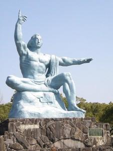 Peach statue
